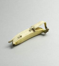 Ivory okimono of a banana