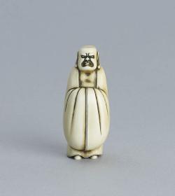 Ivory netsuke of Daruma