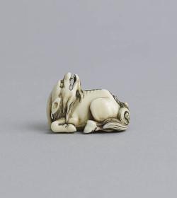 Ivory netsuke of a kirin