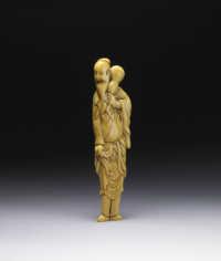 Ivory tall sennin Netsuke