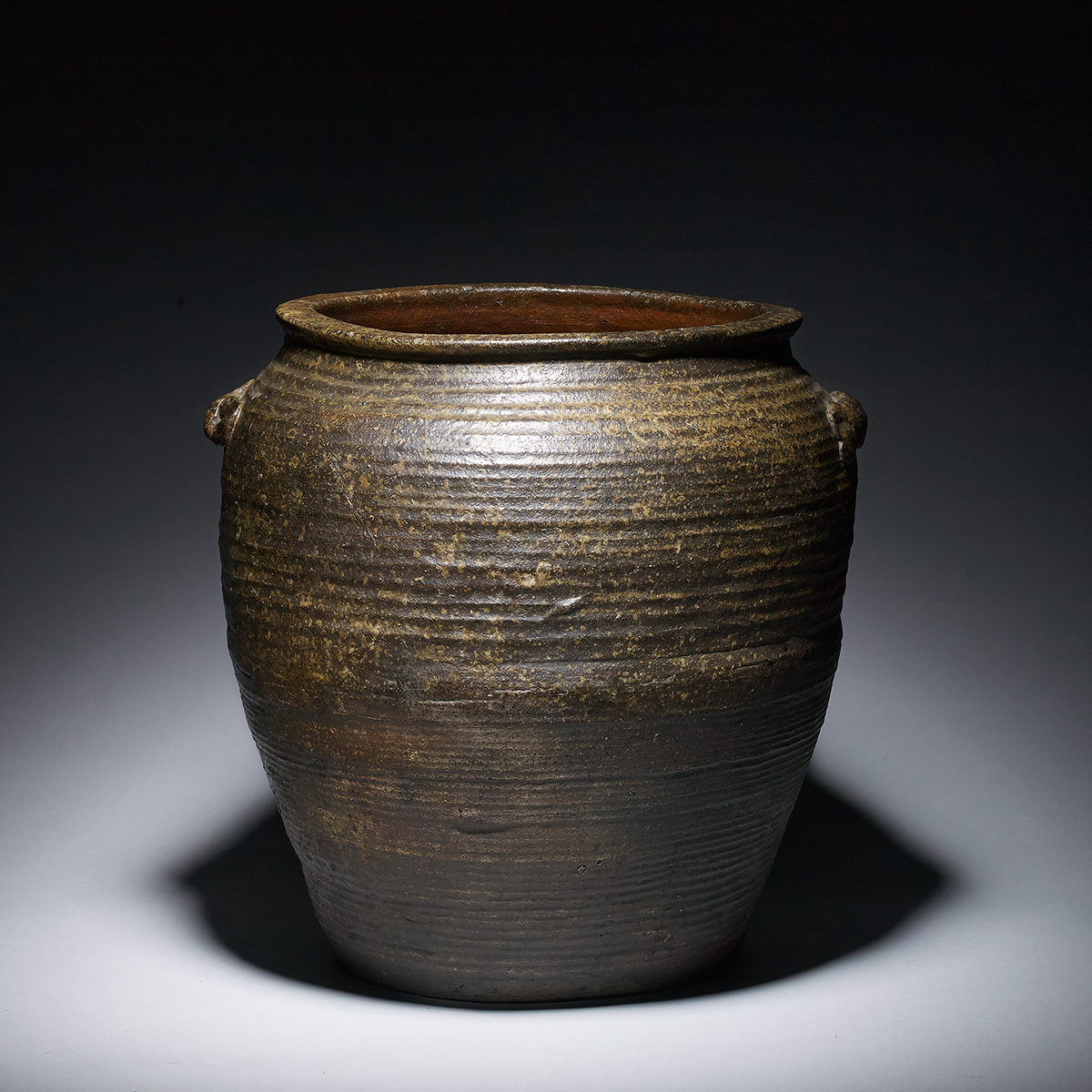 Bizen Ceramic Jar - Japanese Antique Ceramic