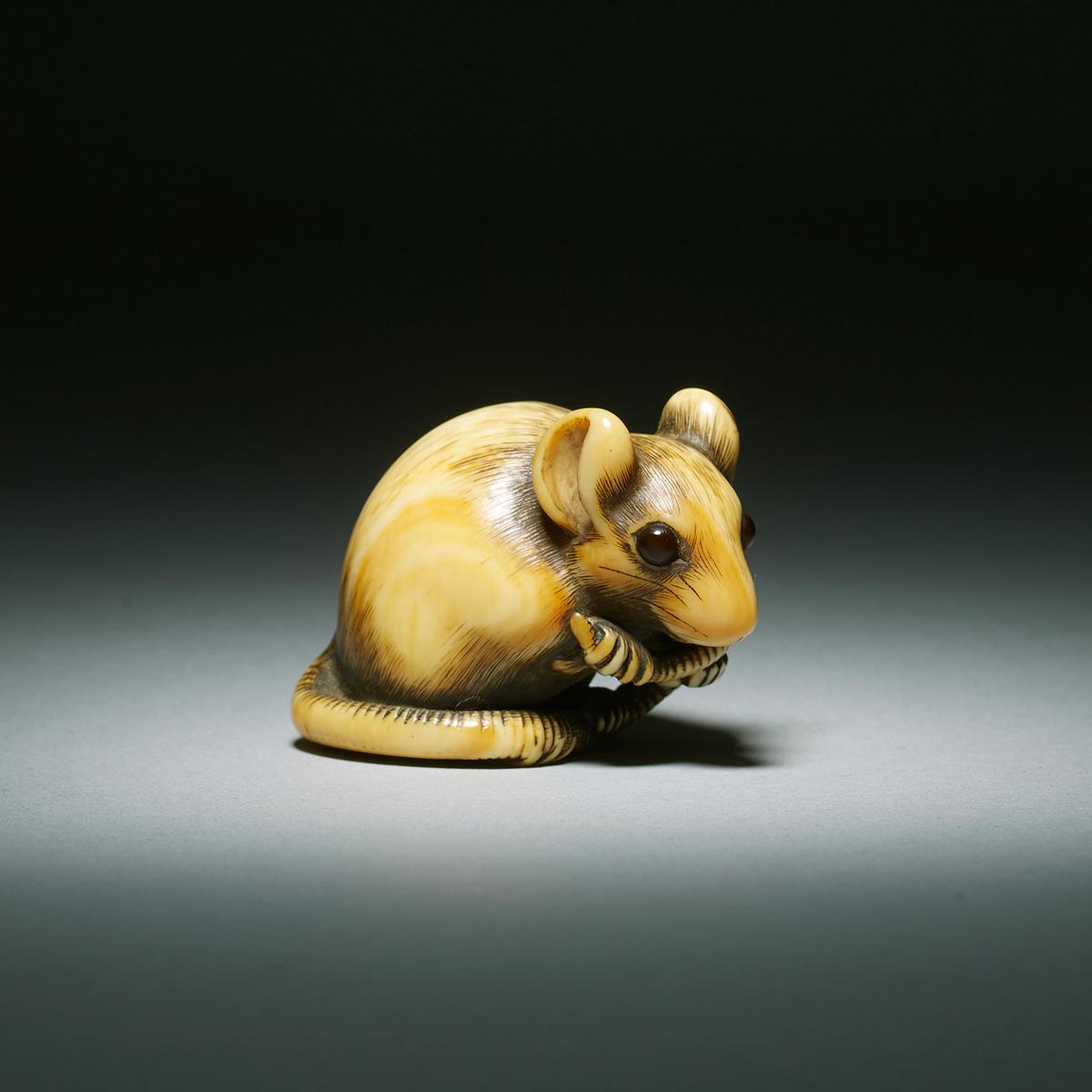 Japanese Art For Sale - Netsuke Ivory Rat