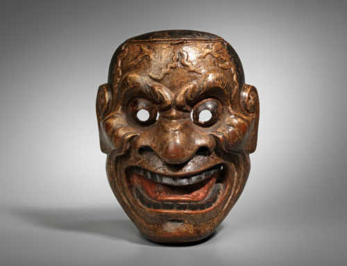 Wood Akujo Mask