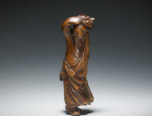Mataemon – Wood Hero Netsuke