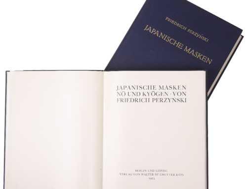 'Japanische Masken Nō und Kyogen' Book, F. Perzyńsky