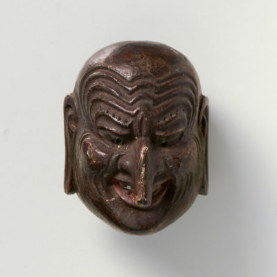Tetsuro-Lacquered wood-Mask netsuke-Churo-mr2313