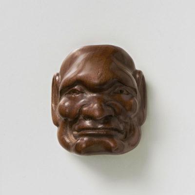 Boxwood Mask Netsuke-Morose Man-mr2418