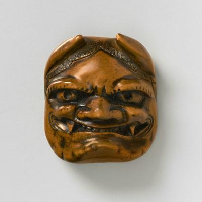 Boxwood-Mask Netsuke-Oni-mr2378