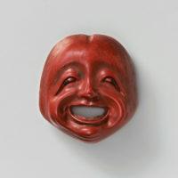 Lacquer mask netsuke-Shojo Shigemitsu-mr2328