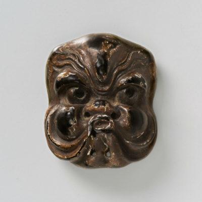 Lacquered wood-Mask Netsuke-Octopus-mr2393
