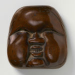 Large wood mask netsuke-Oto-mr2357