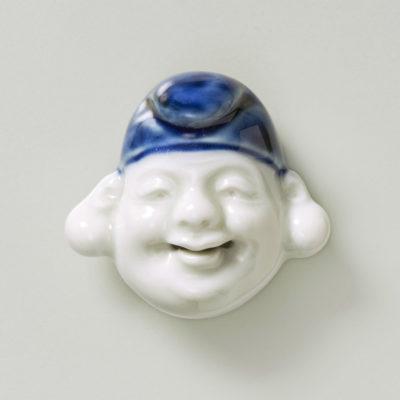 Porcelein- Mask netsuke- Ebisu-mr2387