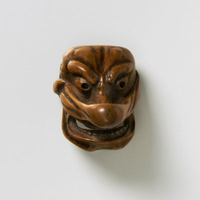 Small Boxwood mask netsuke-Konoha Tengu-mr2386