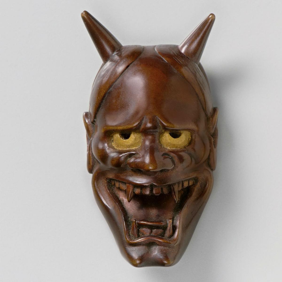 Wood Mask Netsuke Hannya-mr2330