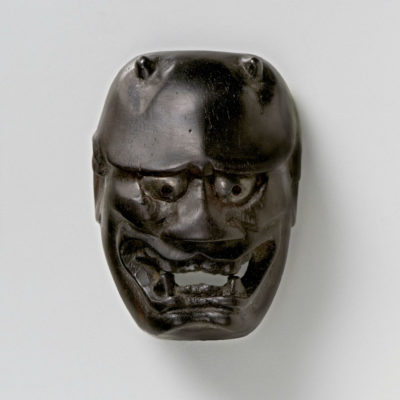 Wood Mask Netsuke-Kiiyohime-mr2334