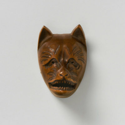 Wood Mask Netsuke-Kitsune-mr2351