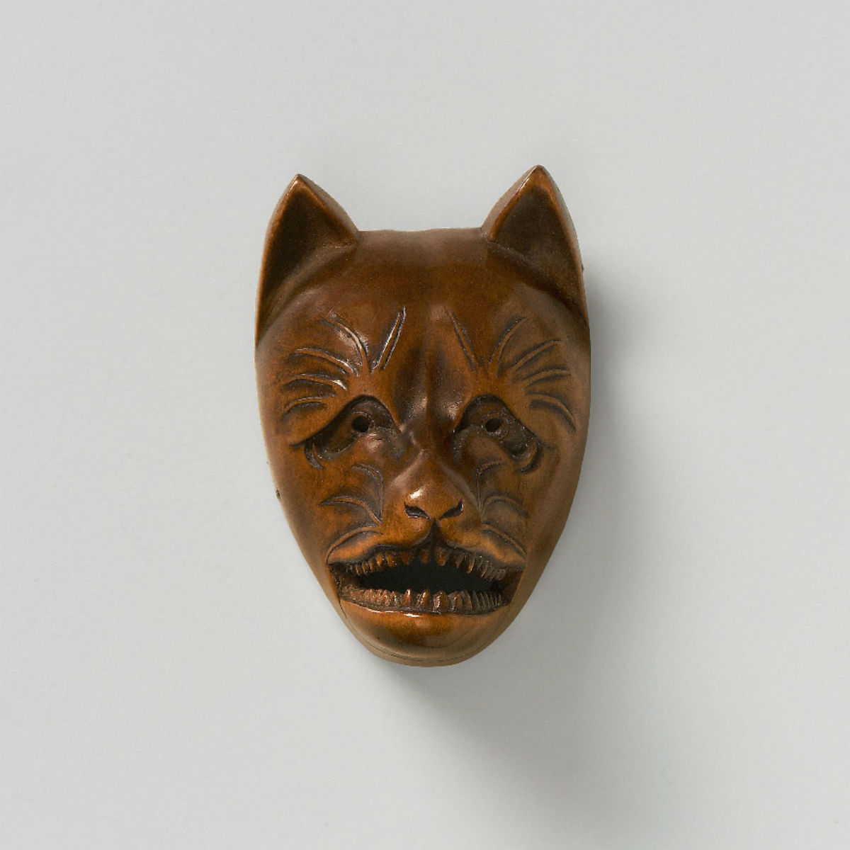 Wood Mask Netsuke-Kitsune-mr2351
