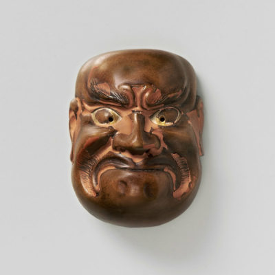 Wood Mask Netsuke-Ko Beshimi Tenjo-mr2346
