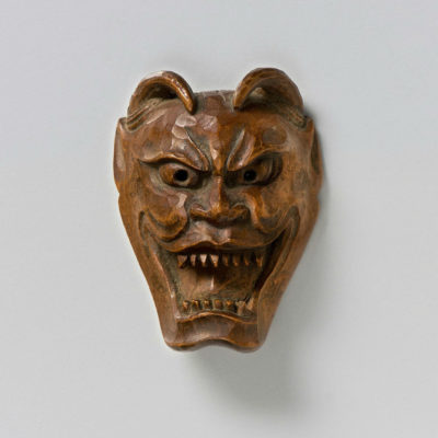 Wood Mask Netsuke-Namanari-mr2329