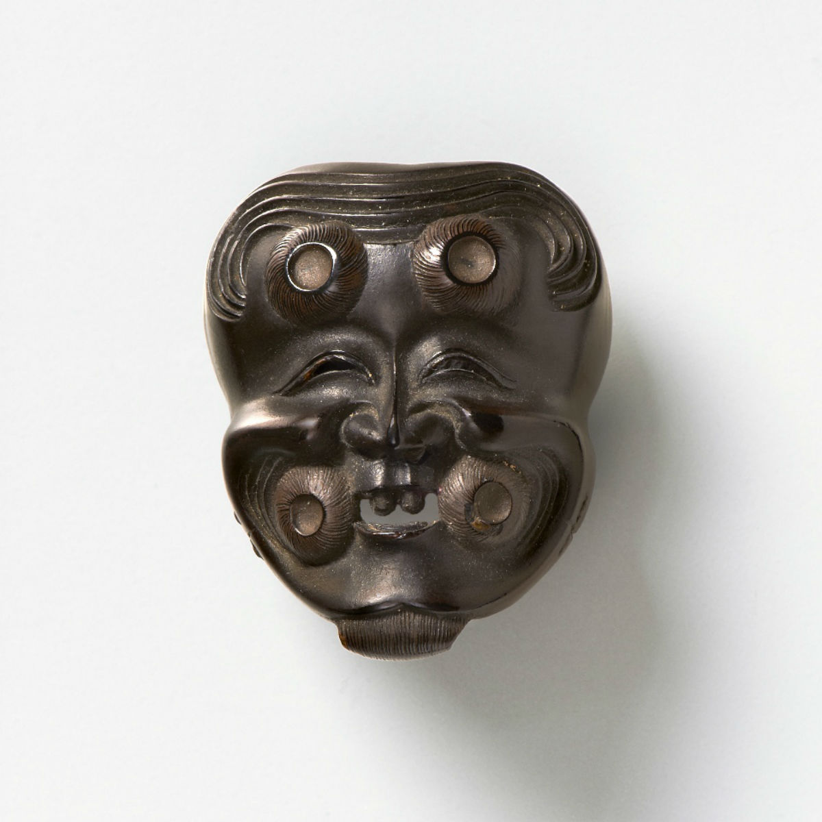 Wood Mask Netsuke-Okina-mr2317