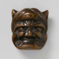 Wood Mask Netsuke-Oni Shuzan-mr2376