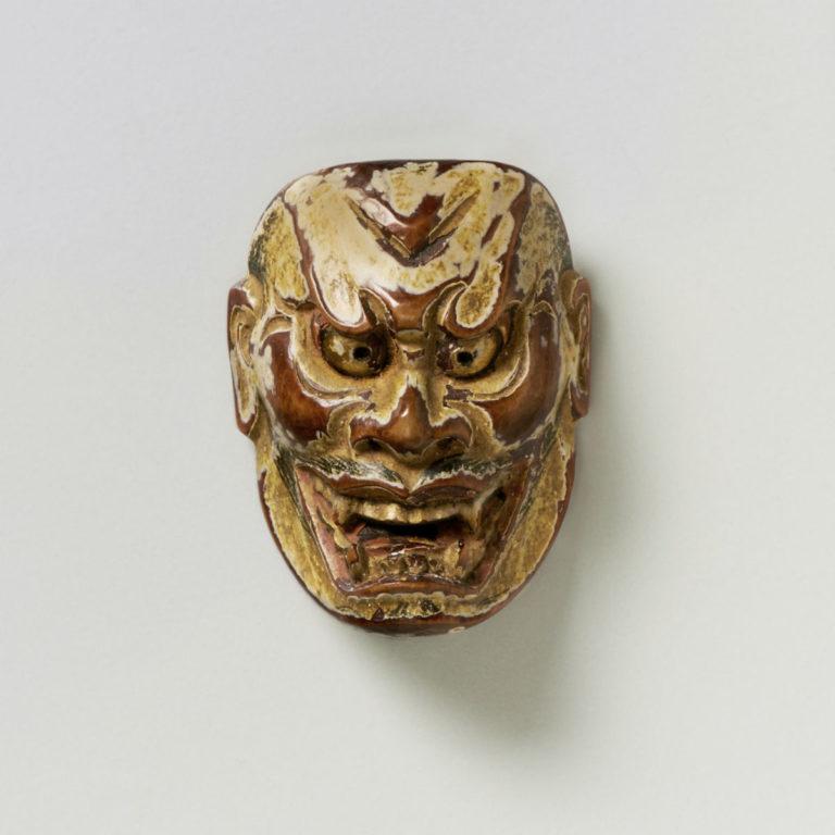 Boxwood Mask Netsuke of Ja | Max Rutherston Ltd