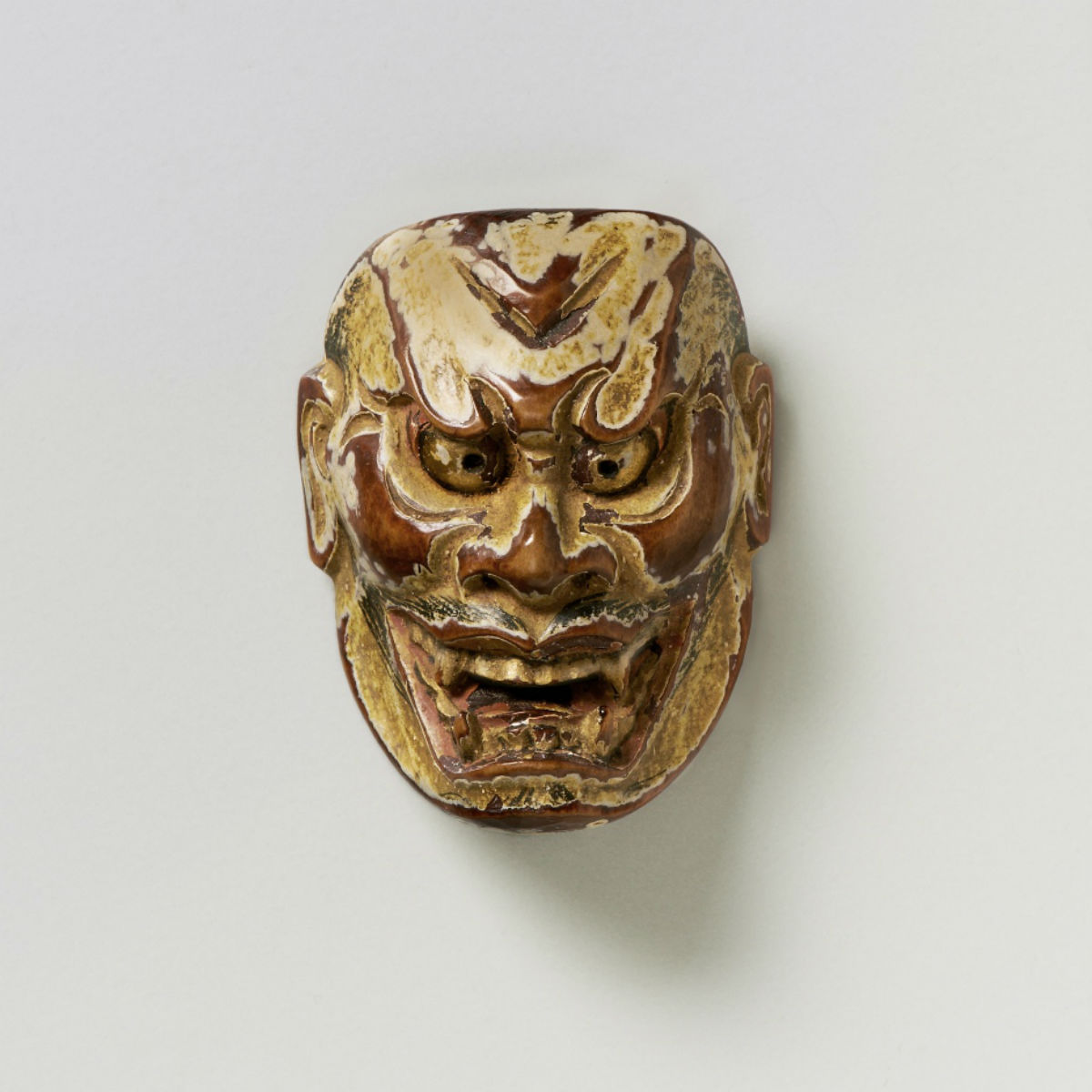 Wood-Mask Netsuke Shikami Komon-mr2340
