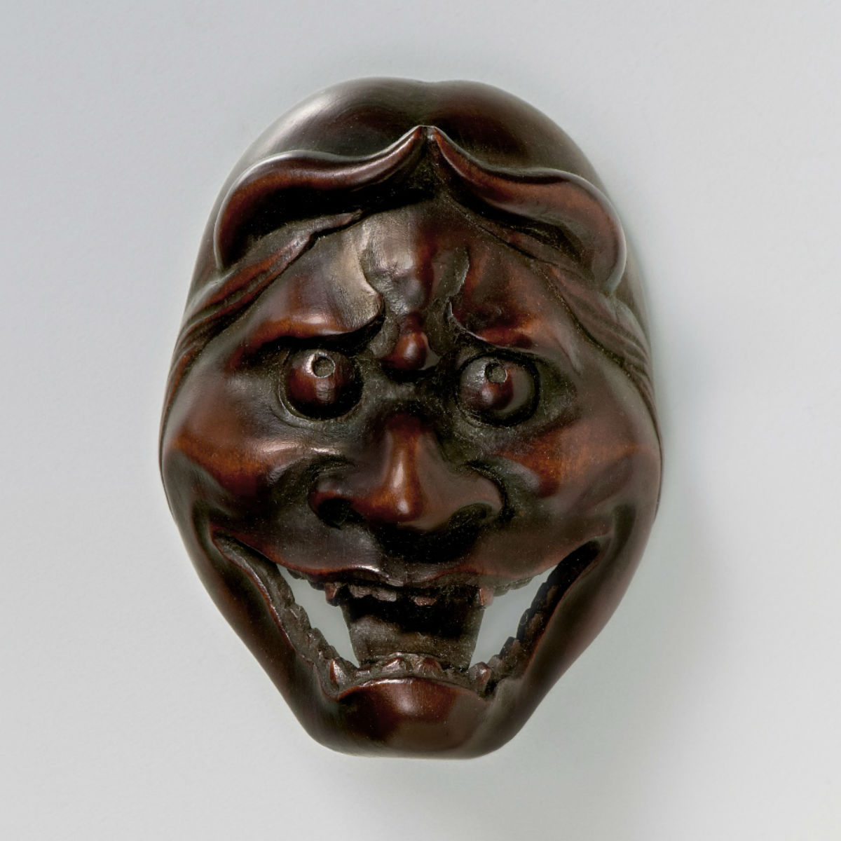 Wood-Mask Netsuke-Shinja-mr2339
