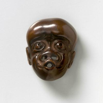 Wood Mask Netsuke - Simian Man