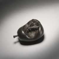 Wood Wasp in Pear Netsuke view above