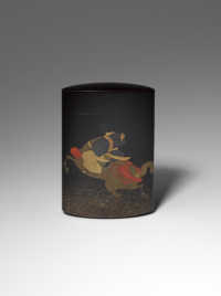 Four case inro with horse and rider, Koma Yasutada