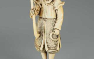 Ivory netsuke of a dutchman