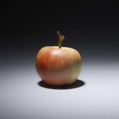 Ivory okimono of a small apple