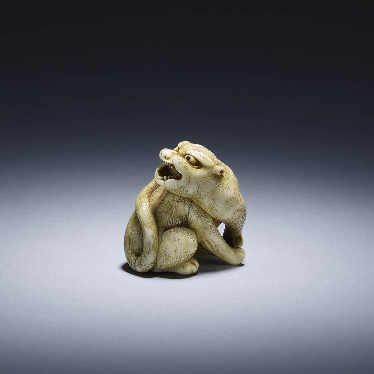 Mitsushige, Ivory netsuke of a tiger