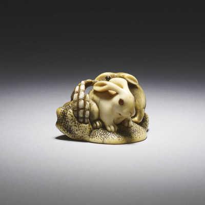Mitsutada, Ivory netsuke of rabbits