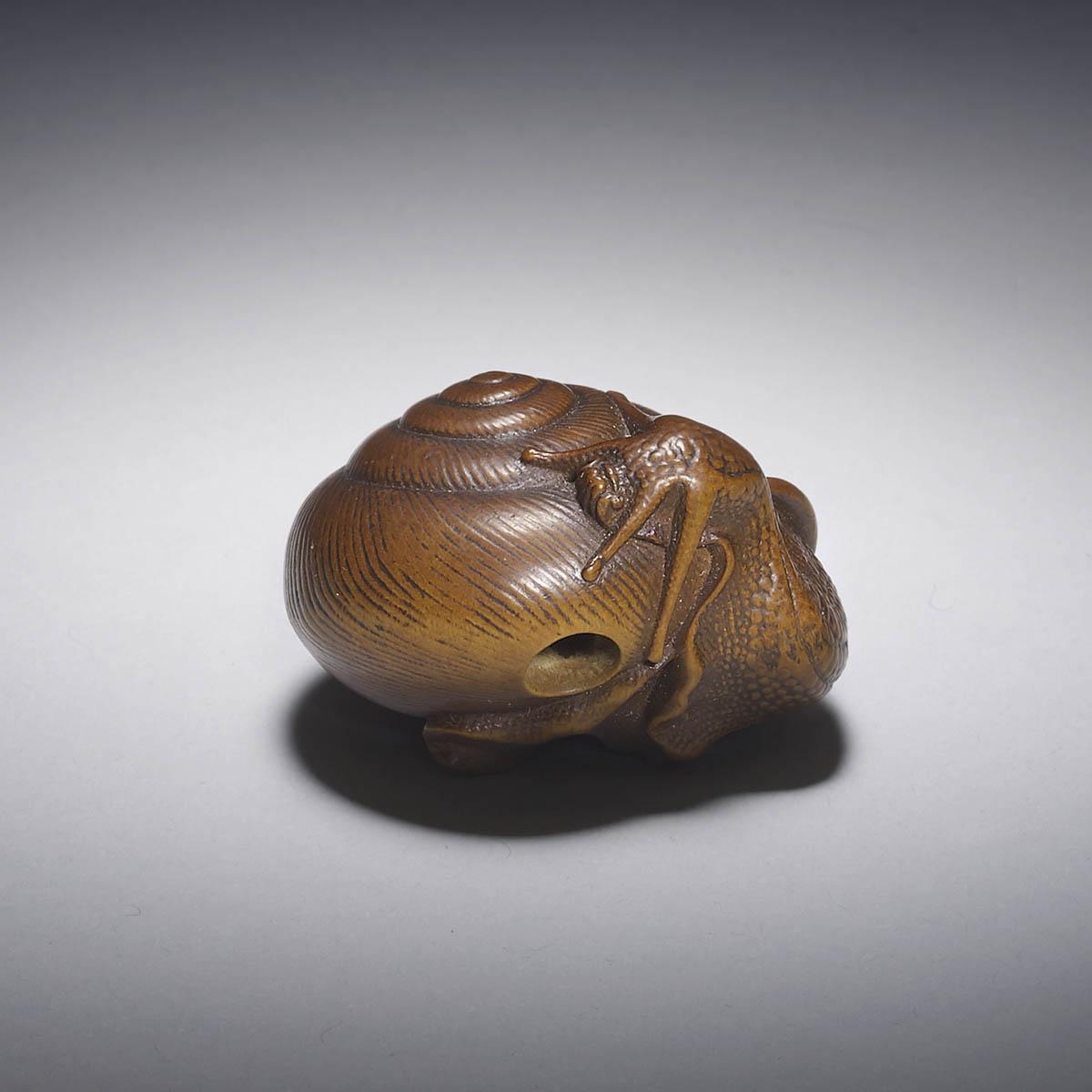 Naito Toyomasa, Boxwood netsuke of a snail