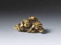 Yoshinaga, Ivory netsuke of Gama Sennin