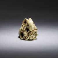 Yoshitomo, Ivory netsuke of a hare