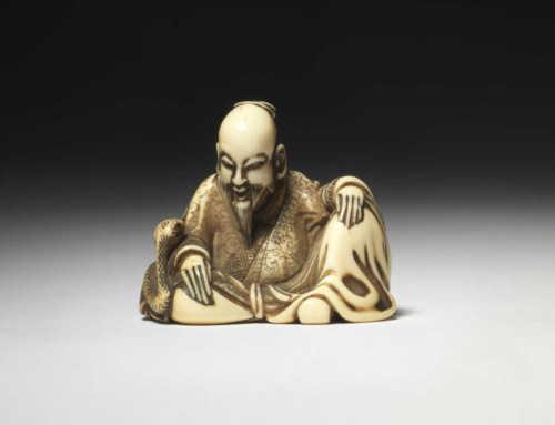 Ivory netsuke of a Chinese sage