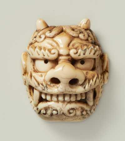 Ittokusai, Mask netsuke of Oni,
