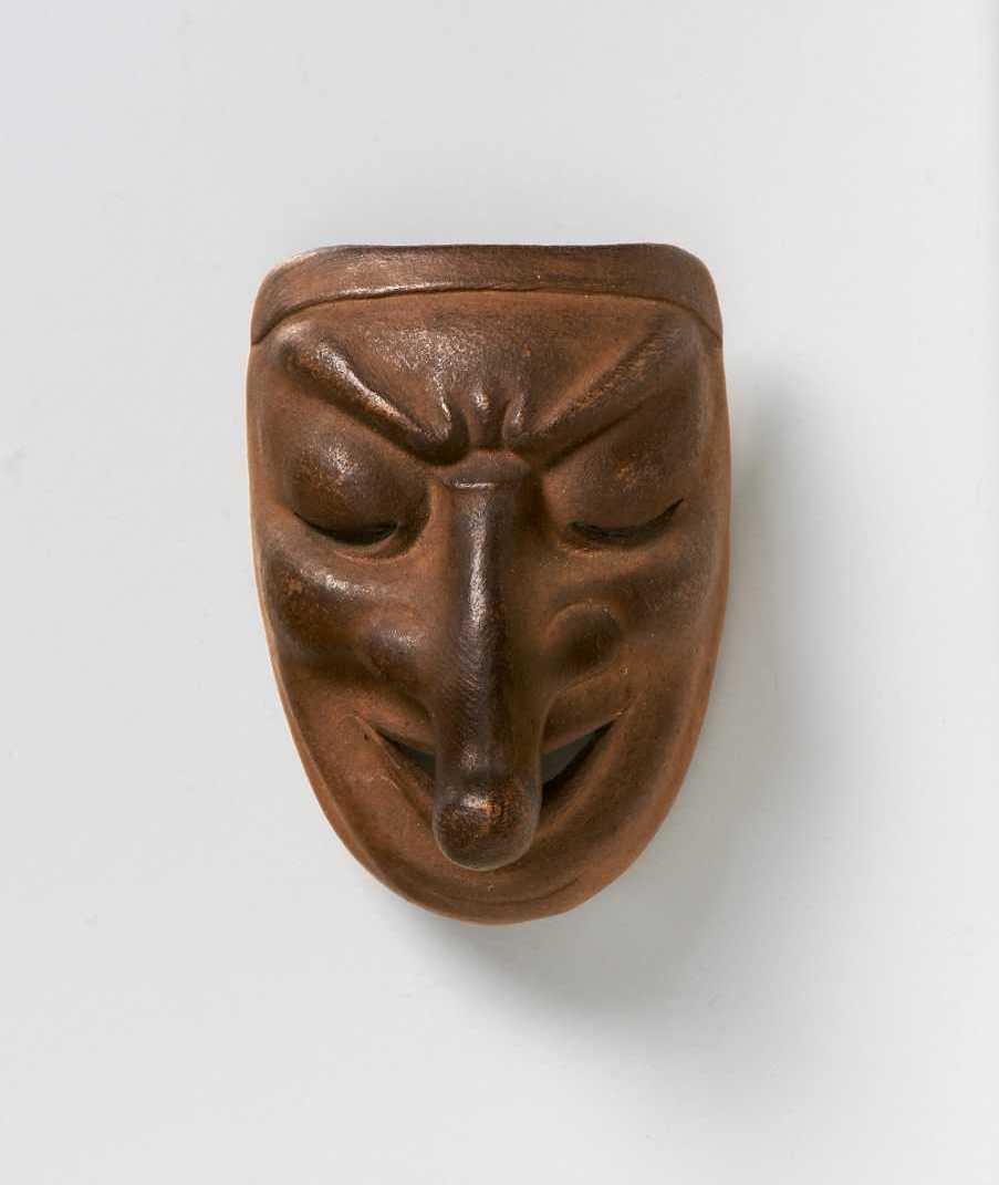 Mask netsuke of Chido