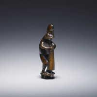 Risuke Garaku, Wood netsuke of Ono no Tōfu as a frog