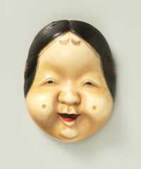 Yamada Hojitsu, mask netsuke of Okame