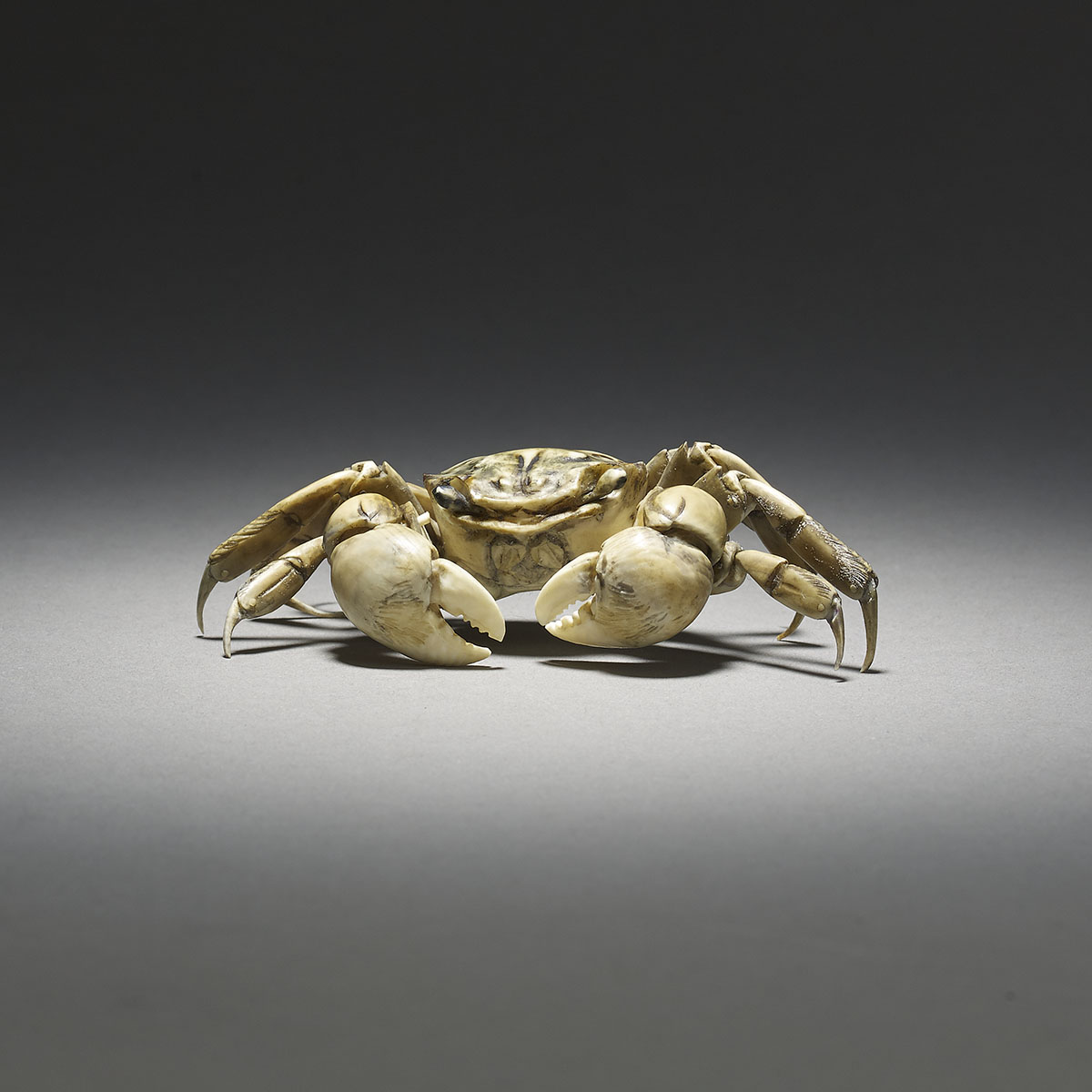Ivory articulated crab