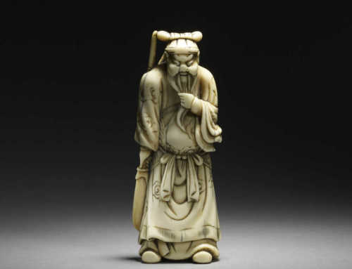 Ivory netsuke of Kan'u