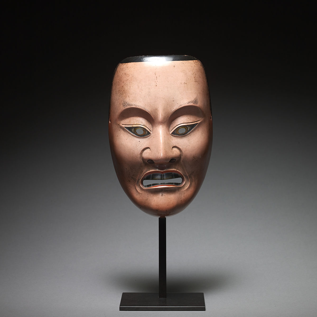Kagura mask of a young man