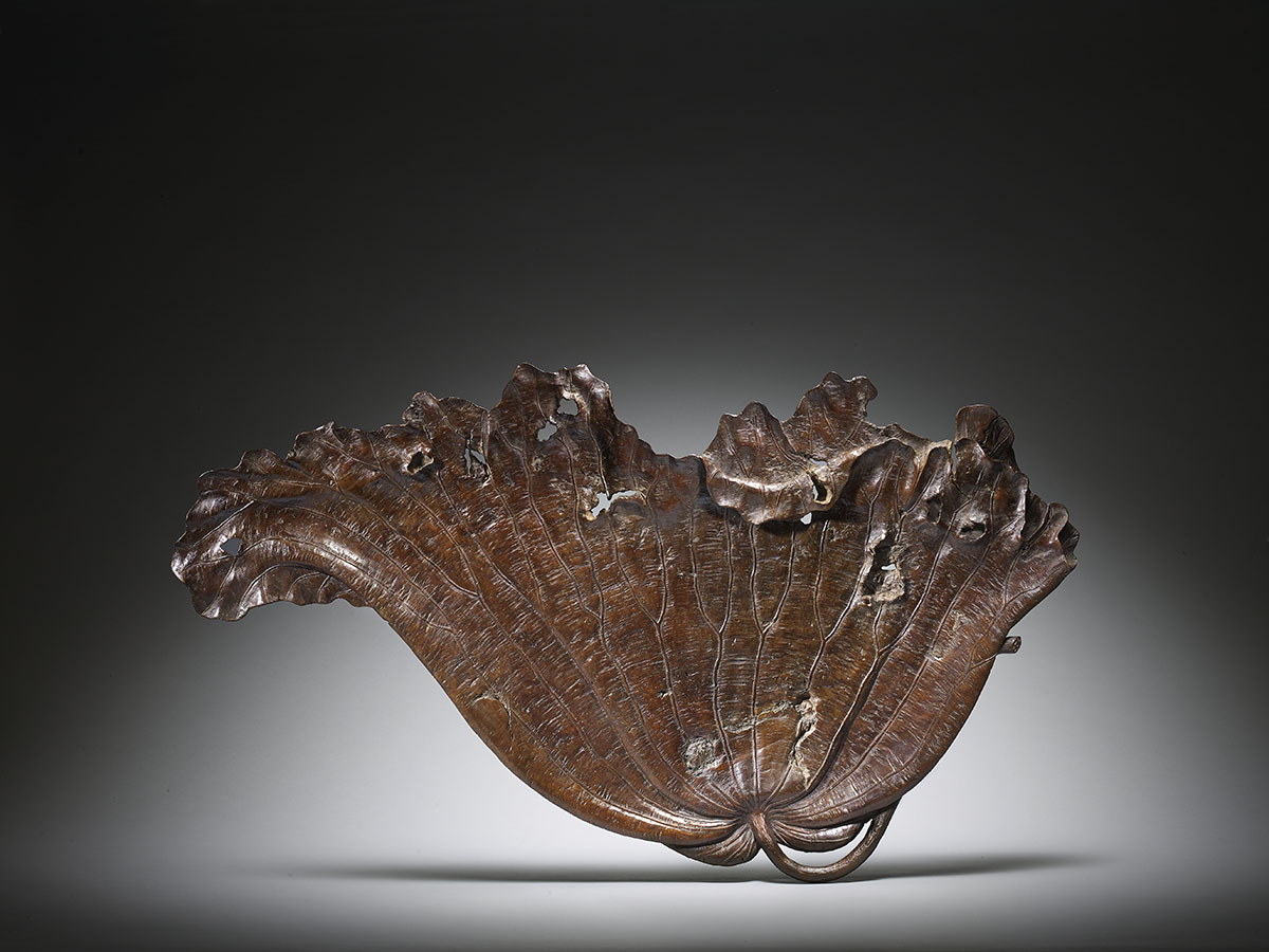 Sencha Lotus Leaf Tray for the Display of an Incense Burner