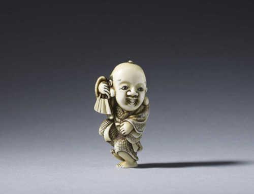 Ivory netsuke of Fukusuke by Yoshimasa
