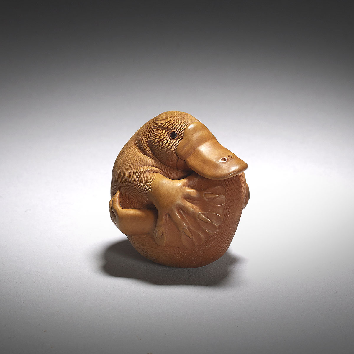 Susan Wraight, Boxwood netsuke of a duckbill platypus
