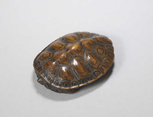 **SOLD** Wood netsuke of a turtle